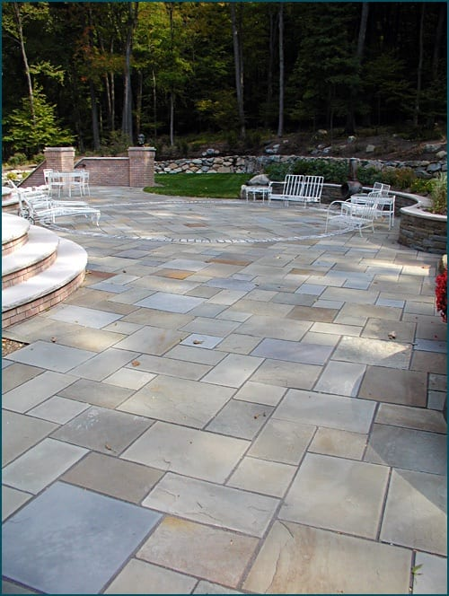 Bluestone full range color bluestone (also called off color) on  patio