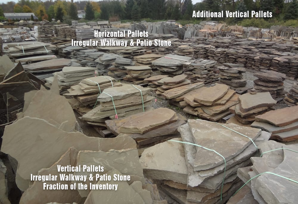 Irregular Walkway and Pation stone - Bluestone and Karney Stone types