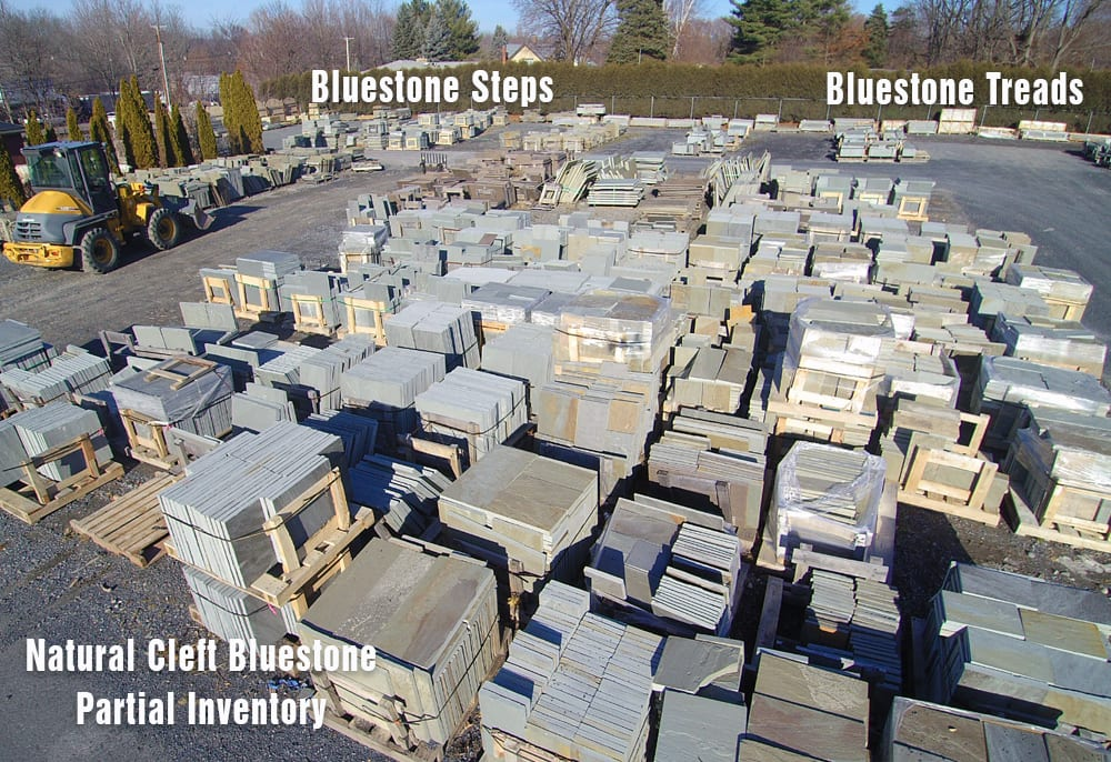 Part of our Bluestone Inventory at Wicki Stone