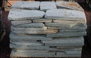 Picture of tumbled Bluestone garden path stepping stones