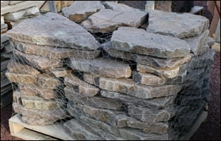 Picture of our Lilac bluestone stepping stones for garden walkways
