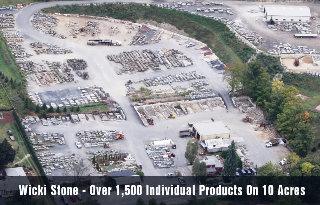 Aerial Photo Of Wicki Stone - New Jersey's Largest Natural Stone Yard With Over 1,500 Products On 10 Acres