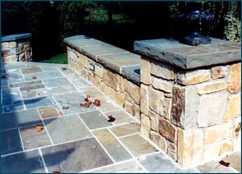 Bluestone full range color walkway stone bluestone (also called off color).