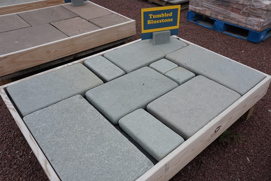 Tumbled Bluestone instantly adds a sense of age, and history to the installation.