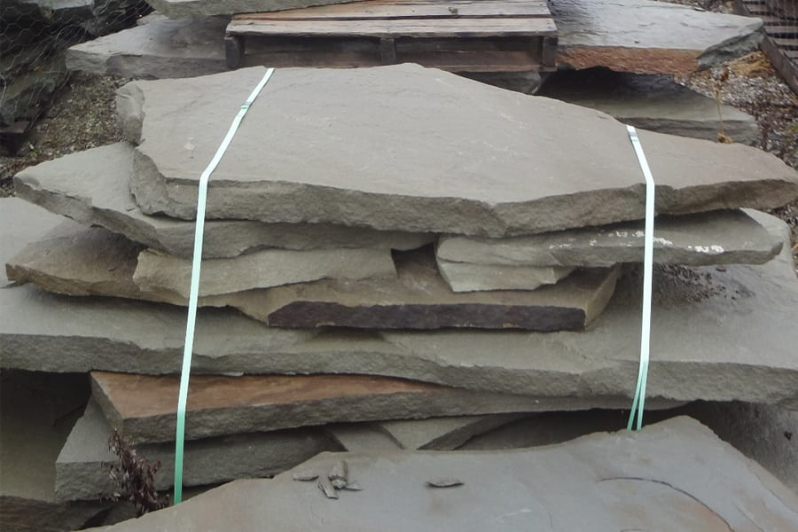 Irregular flagstone can make a great multi-tiered spill rock collection