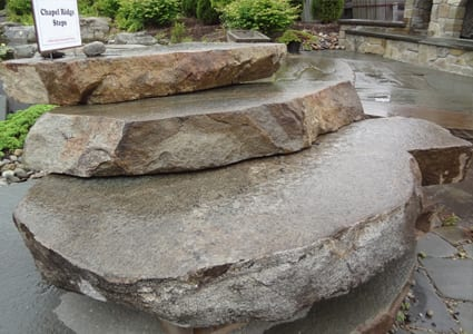 Indian Hill (formerly chapel ridge) natural stone steps picture