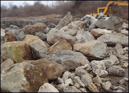 Indian Hill stone boulders