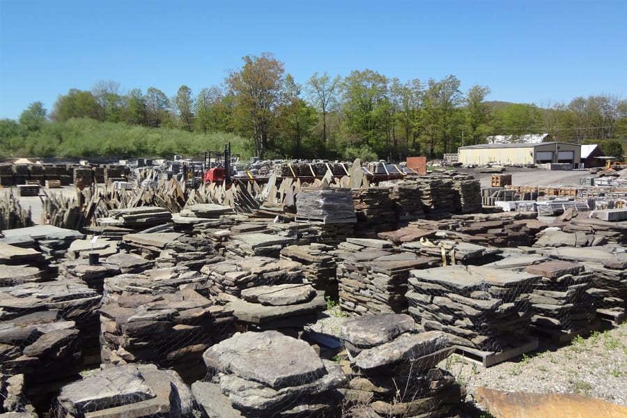 Irregular Stone Inventory Area at Wicki Stone in Great Meadows, NJ