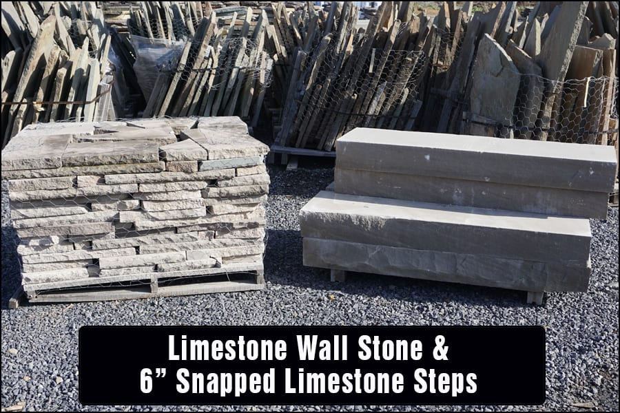 Limestone steps and wall stone make a great combination