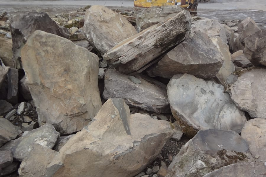 PA Colonial Boulders come in many sizes - these are on the large size.