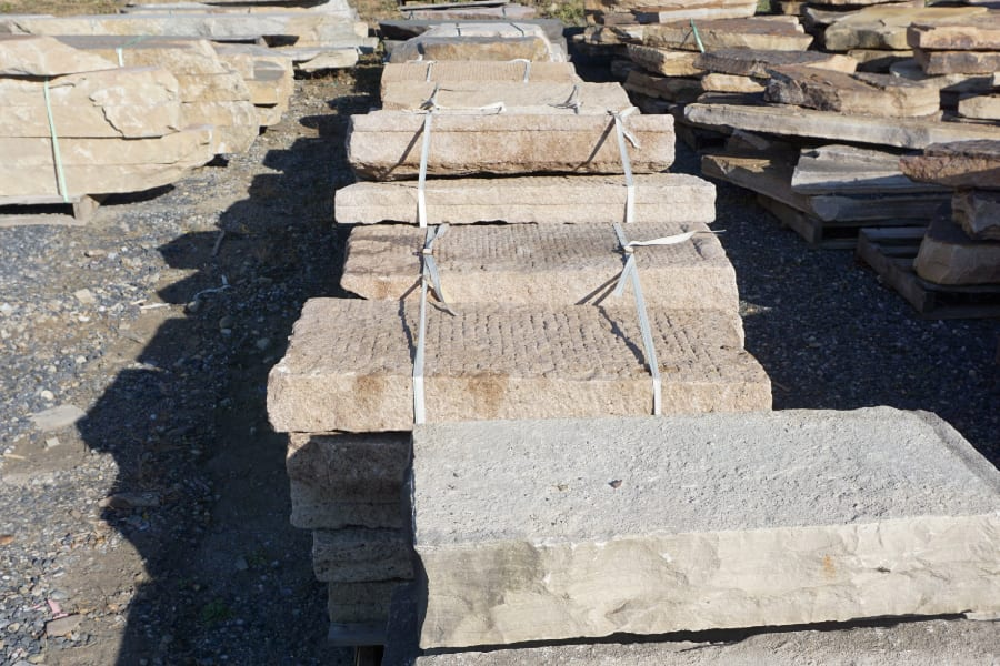 Granite steps at our New Jersey stone yard