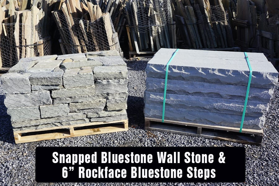Snapped Bluestone Steps and Wall Stone make a perfect pairing.