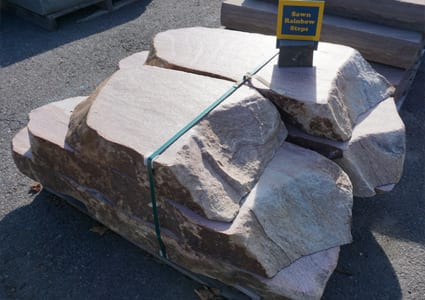 Picture of sawn rainbow stone steps