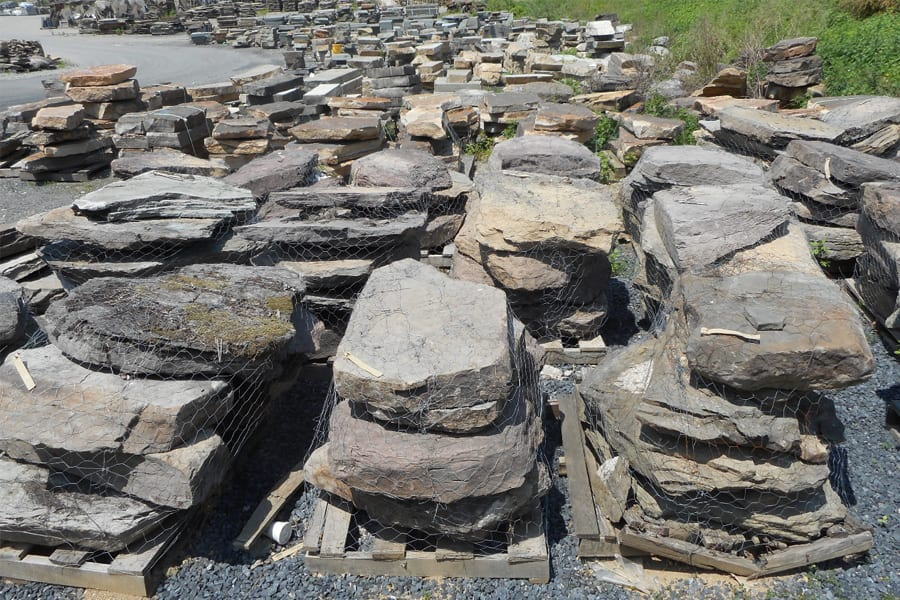 We have one of the largest inventories of natural stone steps in the northeastern United States.