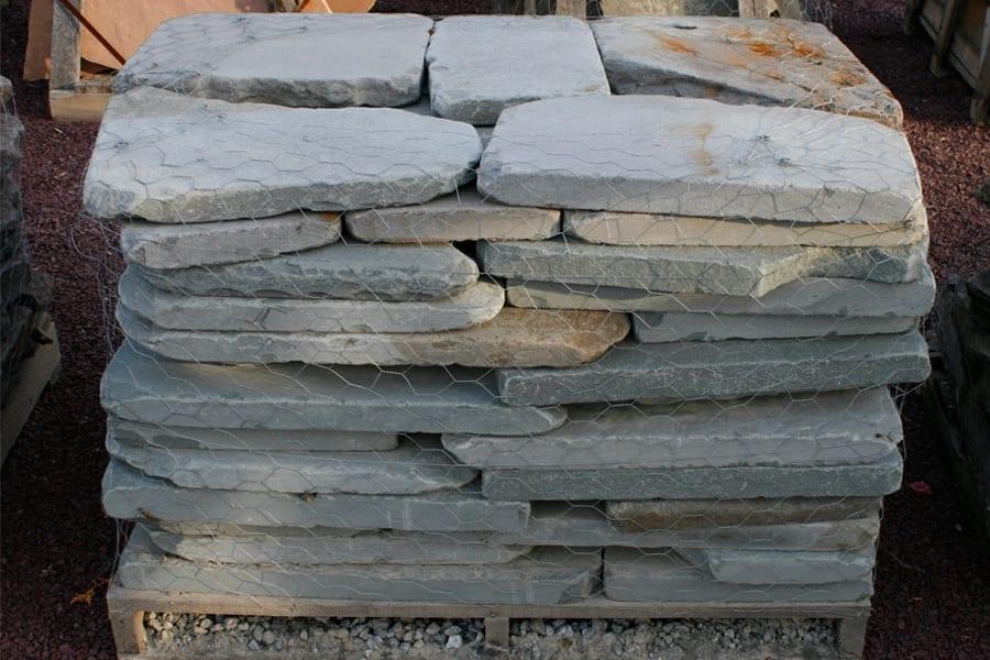 Tumbled Bluestone Irregular Patio Stone Closeup Wicki Stone