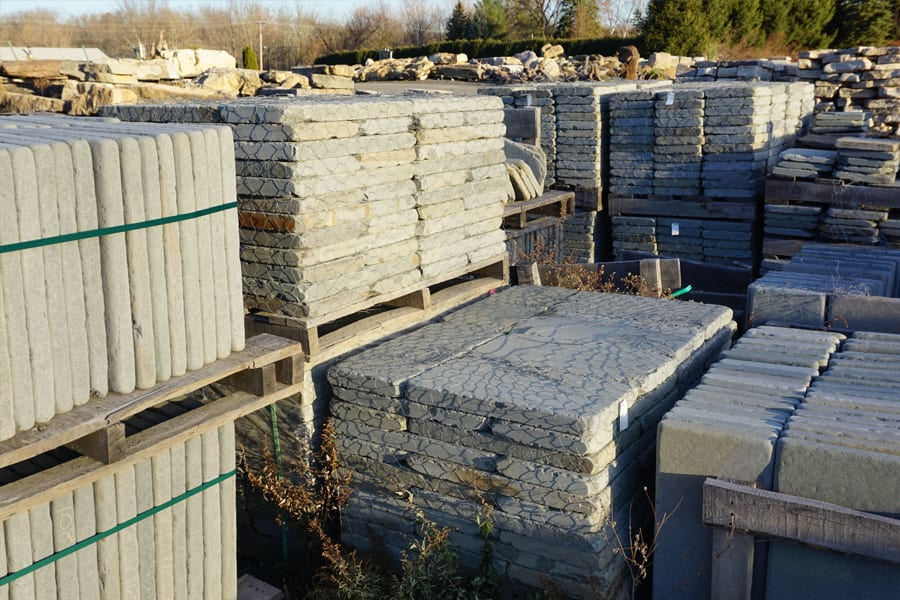 We carry Tumbled Bluestone wall stone in a number of different sizes. Pallets cannot be split.