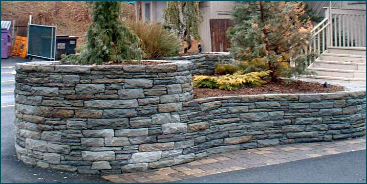 Snapped bluestone with Karney® stone accents