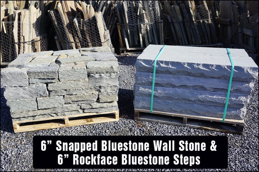 Example of matched bluestone steps and wall stone
