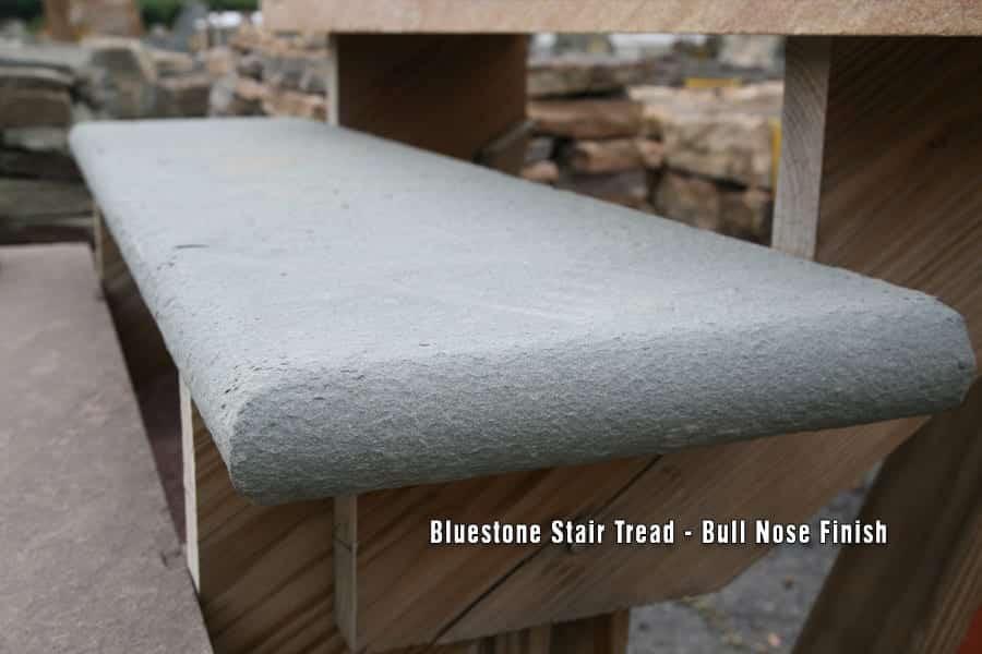 Bull Nose Bluestone Stair Tread Close Up Picture