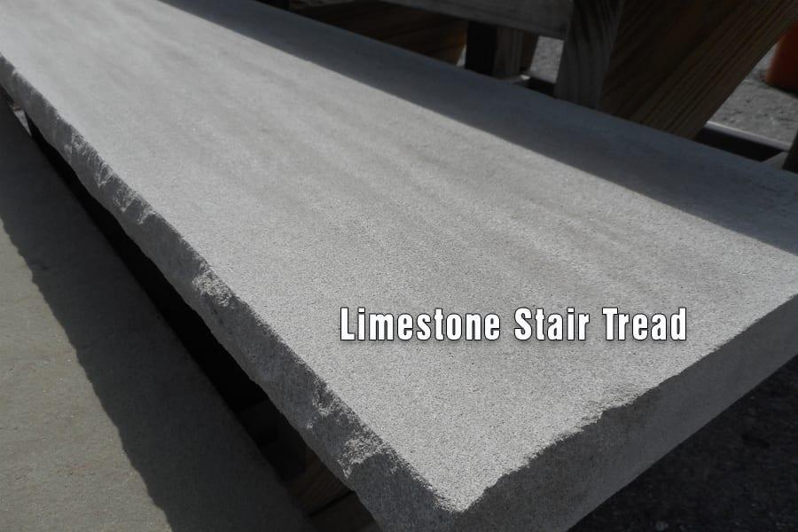 Bon Limestone Stair Tread Close Up Picture