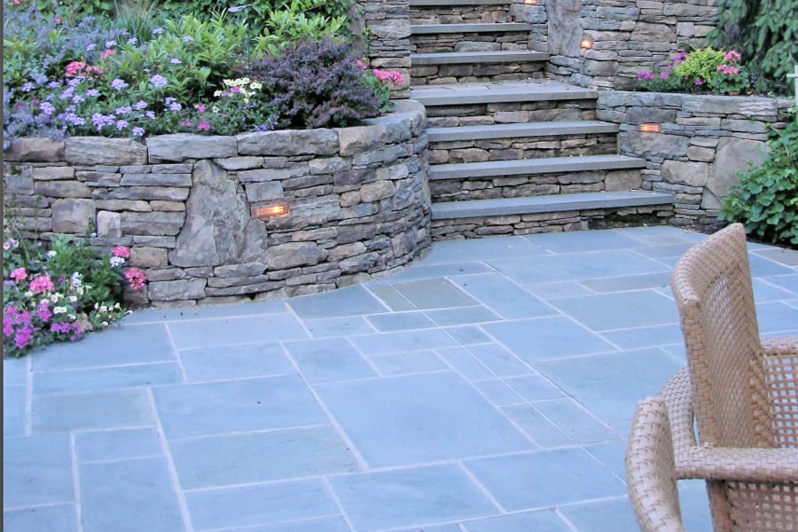 An example of Blue Blue Pattern Bluestone