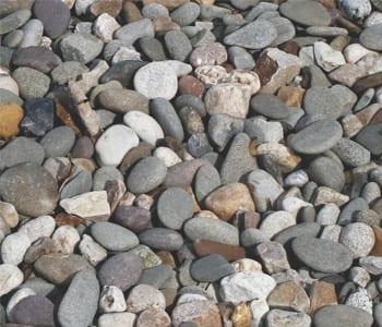 Delware River Decorative Landscape Gravel Photograph
