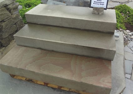 Karney natural stone dimensional steps means they are sawn on all sides and top and bottom