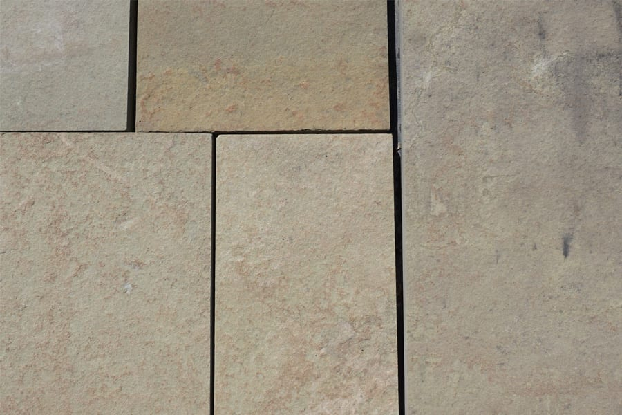 Karney Mustard Color Walkway, Patio, Pool and Porch Deck Stone sample