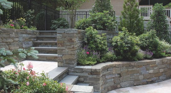 Wall stone choices at Wicki Stone