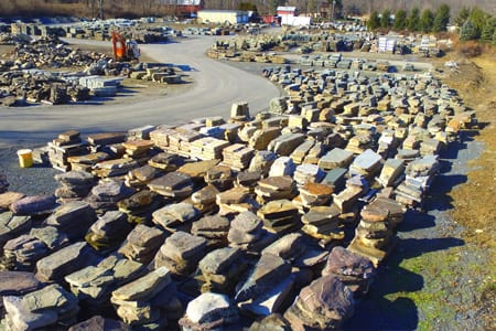 Another example of the large stone steps inventory we carry a Wicki Stone