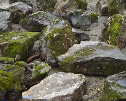 More Moss Rock boulders at Wicki Stone