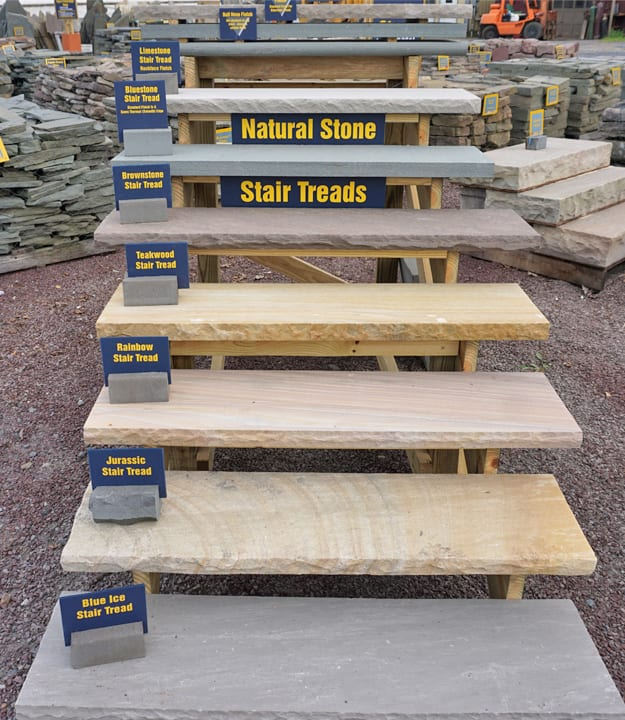 Stone stair treads at wicki stone