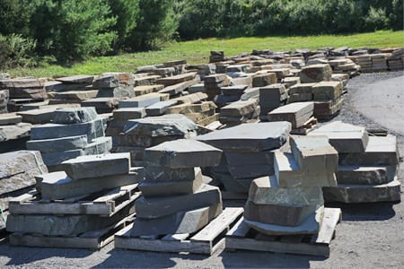 A small part of our stone steps inventory