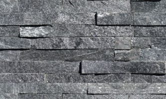Coal Canyon a grat to black thin veneer building stone