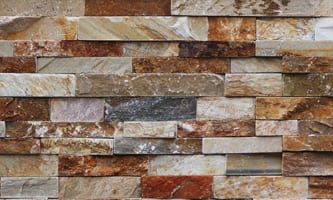 Our golden white thin veneer stone is very colorful