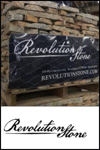 We are a dealer for the Revolution Stone line of thin veneer bvuilding stones