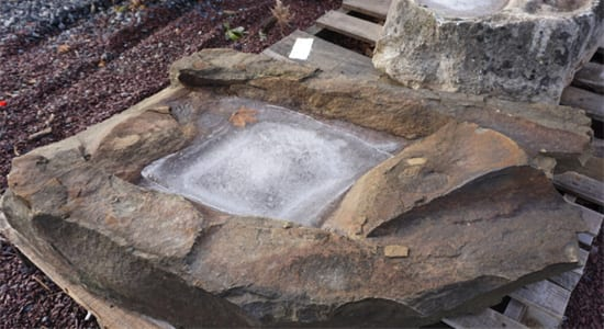 Stone bird baths, mantles, hearths, sills and more
