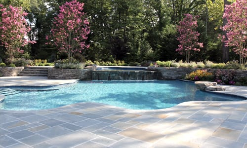 Bluestone pool deck photo