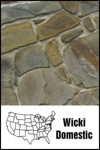 Wicki Stone's own line of domestic building stone
