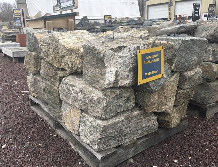 Reclaimed wall stone