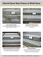 Download link for high resolution pdf of our stone step choices