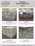 PDF with picctures of our wall stone choices
