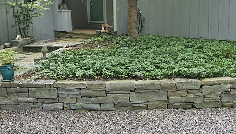 Example of an ideal wall stone combination for colorful stone walls