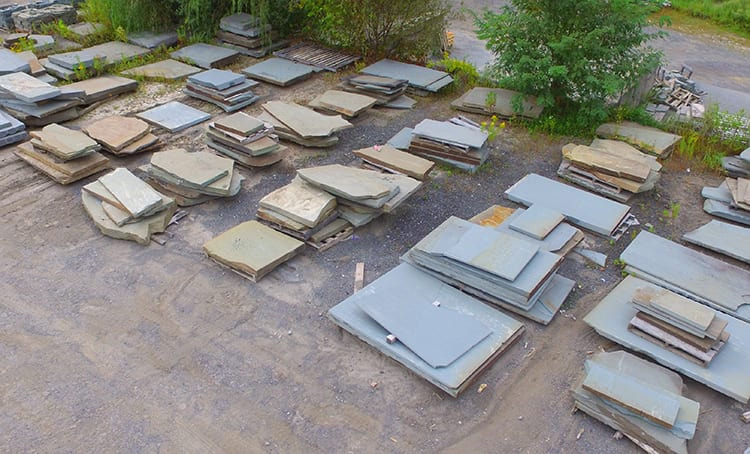 Large stone slabs inventory at our NJ Stone Yard