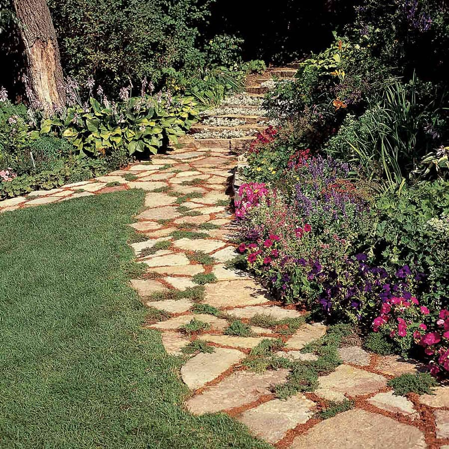 An example of garden path stone from a family handyman article