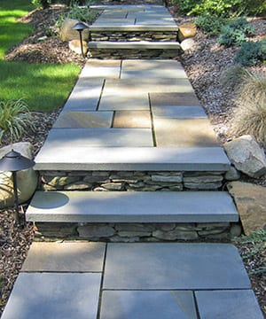Off color is another name for full range color bluestone as shown on this walk