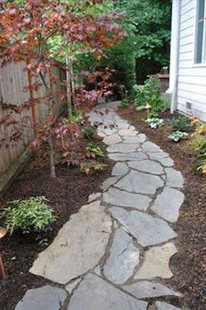 Picture of a rustic garden path of stepping stones