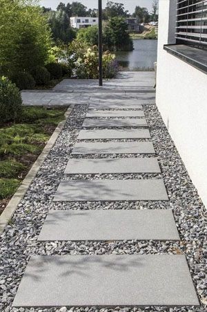 Picture of a Pattern Stepping Stone Garden Path