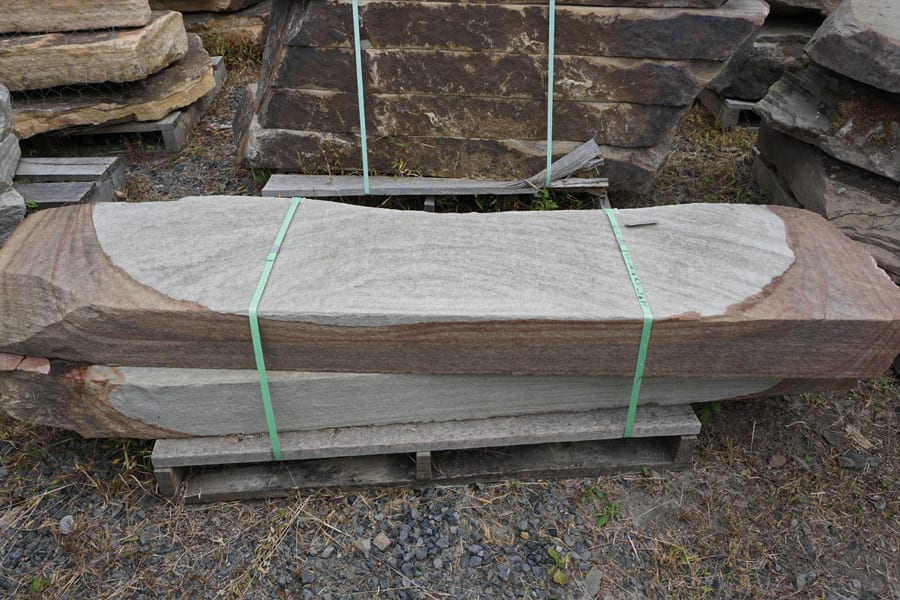 Picture of sawn rainbow natural edge stone steps