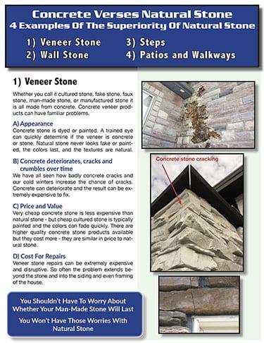 PDF download of natural stone compared to concrete